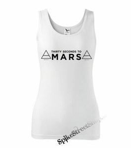 30 SECONDS TO MARS - Logo - Ladies Vest Top - biele