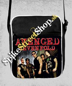 AVENGED SEVENFOLD - Red Logo & Band - retro taška na rameno
