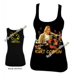 KURT COBAIN - Live Smile - Ladies Vest Top