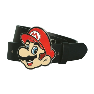 NINTENDO - PU Belt With Mario Face Buckle - opasok s prackou