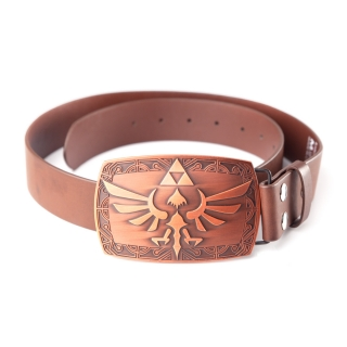NINTENDO - Zelda Brown Belt Patina Buckle - opasok s prackou