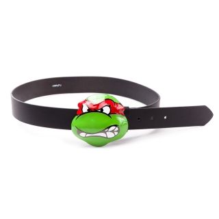 TEENAGE MUTANT NINJA TURTLES - Belt With Angry Raphael Buckle - opasok s prackou