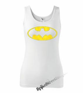 BATMAN - Yellow Logo - Ladies Vest Top - biele