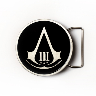 ASSASSINS CREED III - Black Round Buckle - pracka