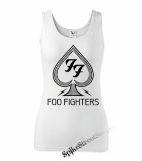 FOO FIGHTERS - Logo - Ladies Vest Top - biele