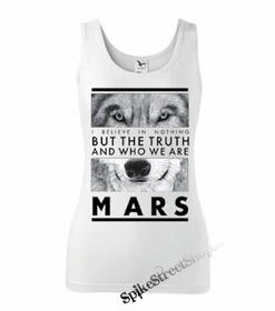 30 SECONDS TO MARS - Wolf - Ladies Vest Top - biele
