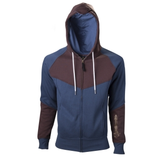 ASSASSINS CREED UNITY - Hoodie With Print - modrá pánska mikina