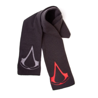 ASSASSINS CREED - Scarf With 2 Logos - čierny šál