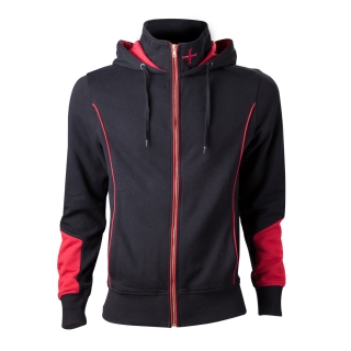 ASSASSINS CREED ROGUE - Hoodie With Print On Backside - čierna pánska mikina