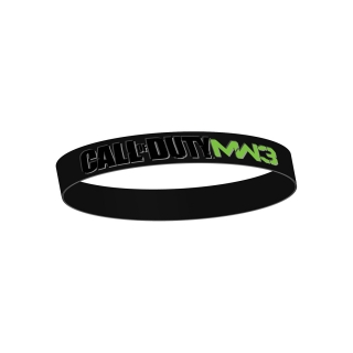 CALL OF DUTY MW3 - Black Rubber Wristband - čierny gumený náramok