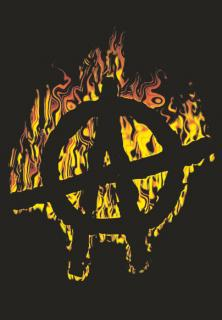 ANARCHY - Burning A - vlajka