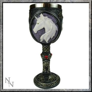 GOTHIC COLLECTION - Unicorn Refreshment Goblet 19cm (P12) - čaša