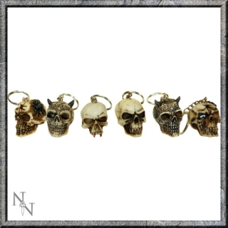GOTHIC COLLECTION - Skull Keyrings (3cm) (P144) - prívesok na kľúče