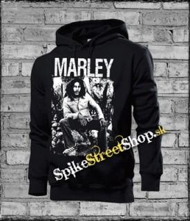 BOB MARLEY - Black And White - čierna pánska mikina c017256a330