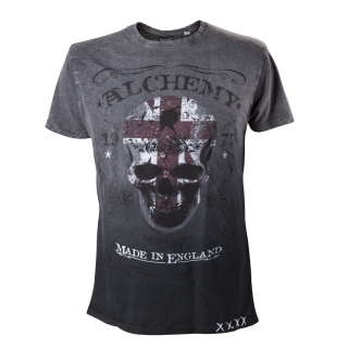 ALCHEMY - The Pact Label T-Shirt - sivé pánske tričko
