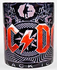Hrnček AC/DC - Black Ice - Red Logo