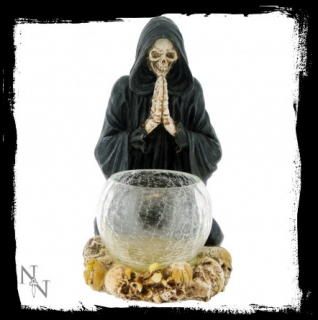 GOTHIC COLLECTION - Reapers Prayer Candle Holder 19.5cm - svietnik