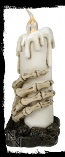GOTHIC COLLECTION - Skeleton Hand Candle Light 15.8cm - svietidlo