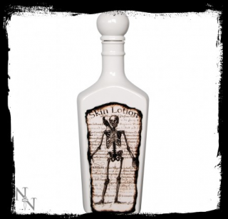 GOTHIC COLLECTION - Skeleton Skin Lotion Bottle 25cm Glazed - nádoba