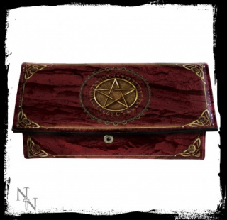 GOTHIC COLLECTION - Purse Pentagram Red (LL) 18cm - peňaženka