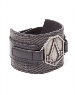 ASSASSINS CREED SYNDICATE - Wristband with Metal Patch - kožený náramok