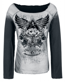 ALCHEMY - Winged Ace of Spades Sweater - dámska mikina