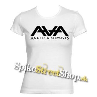 abe0373fe241 ANGELS   AIRWAVES - Logo - biele dámske tričko