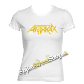 86330bc8010a ANTHRAX - Logo - biele dámske tričko