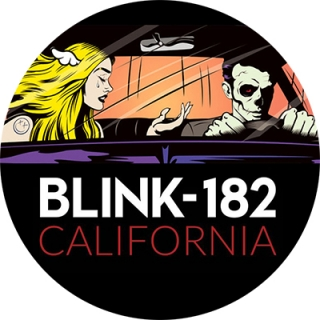 0079cac97 BLINK 182 - California - čierny odznak