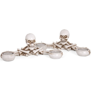 GOTHIC COLLECTION - Skeleton Double Candle Holders - svietnik