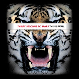 30 SECONDS TO MARS - This Is War Tiger - štvorcová podložka pod pohár