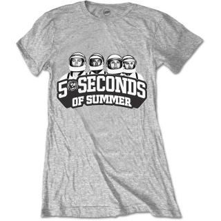 5 SECONDS OF SUMMER - Spaced Out Crew - sivé dámske tričko d5e37ffedb