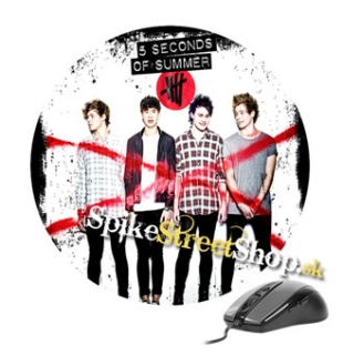 Podložka pod myš 5 SECONDS OF SUMMER - Album Cover One - okrúhla