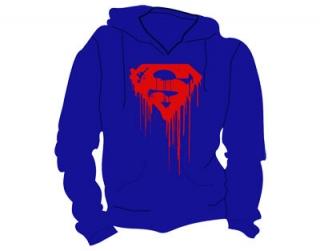 SUPERMAN - Dripping Logo - modrá pánska mikina dd0e410721