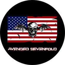 AVENGED SEVENFOLD - Skull 2 - USA Flag - odznak