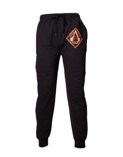 ASSASSINS CREED MOVIE - Brown Golden Crest Lounge Pants - čierne pánske nohavice