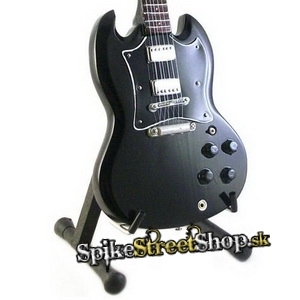 Gitara ANGUS YOUNG - GIBSON SG BACK IN BLACK - Mini Guitar USA