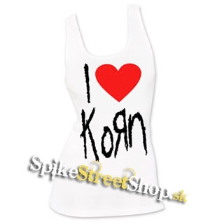 I LOVE KORN - Ladies Vest Top - biele