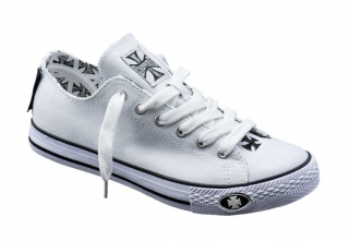 Tenisky WEST COAST CHOPPERS - Warrior Low Top White