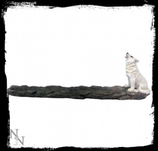 GOTHIC COLLECTION - Wolf Call Incense Holder 27.8cm  - stojan na vonné tyčinky