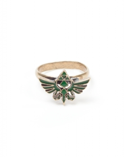 NINTENDO - Zelda Ring with Green Triforce Logo - prsteň