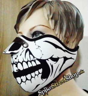 SKULL - Black & White Skull Teeth Torso 1 With Nose Protector - maska