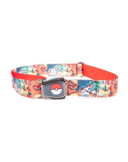 POKEMON - All Over Characters Airplane Belt - opasok