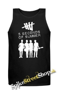 5 SECONDS OF SUMMER - Logo & Band - Mens Vest Tank Top - čierne