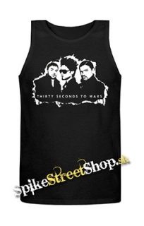 30 SECONDS TO MARS - Logo And Band - Mens Vest Tank Top - čierne