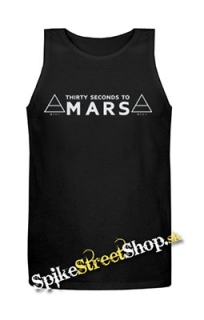 30 SECONDS TO MARS - Logo - Mens Vest Tank Top - čierne