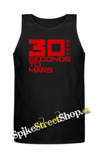30 SECONDS TO MARS - Red Big Logo - Mens Vest Tank Top - čierne