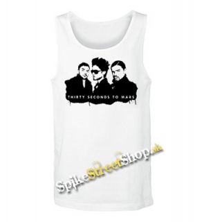 30 SECONDS TO MARS - Logo And Band - Mens Vest Tank Top - biele