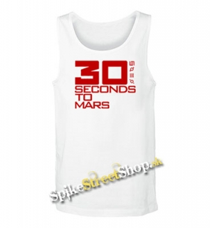 30 SECONDS TO MARS - Red Big Logo - Mens Vest Tank Top - biele