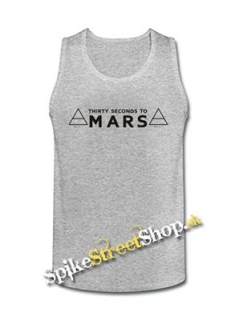 30 SECONDS TO MARS - Logo - Mens Vest Tank Top - šedé